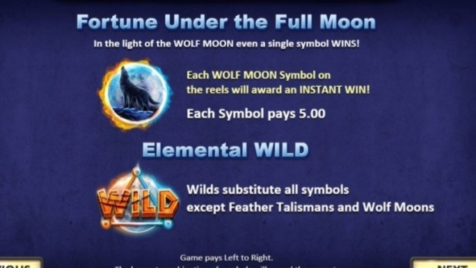 wolf moon rising slot rules