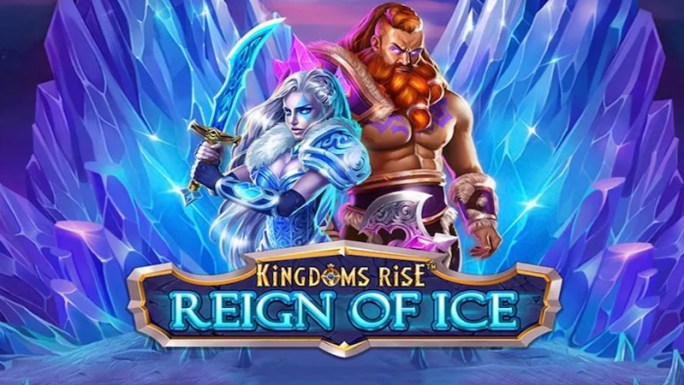 kingdoms rise reign of ice slot logo