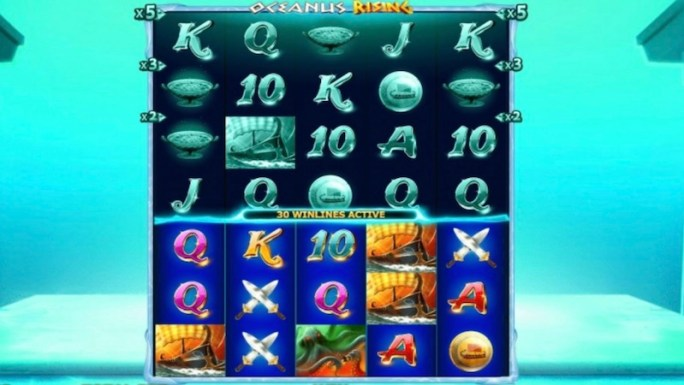 oceanus rising slot gameplay