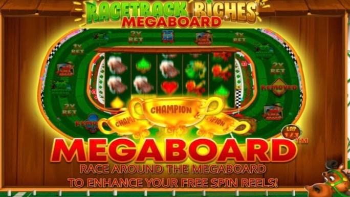 racetrack tiches megaboard slot rules