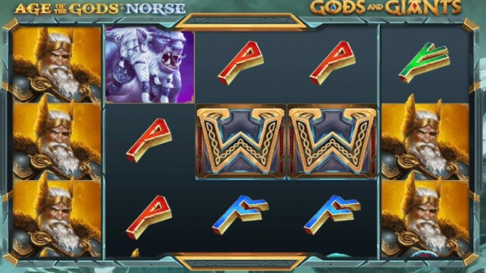 gods and giants slot gameplay