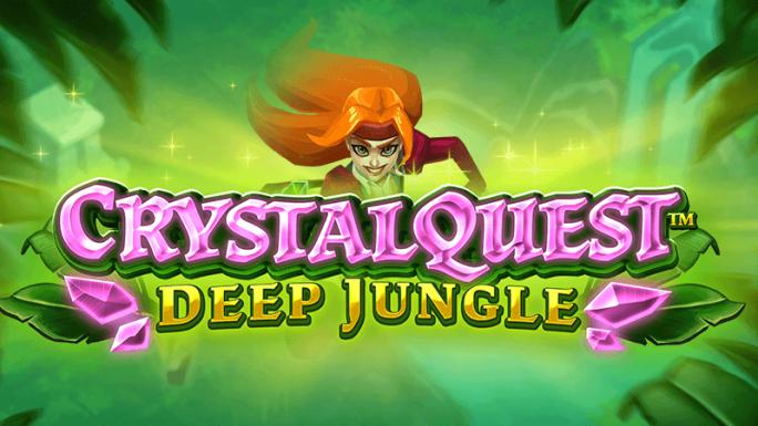 crystal quest deep jungle slot logo