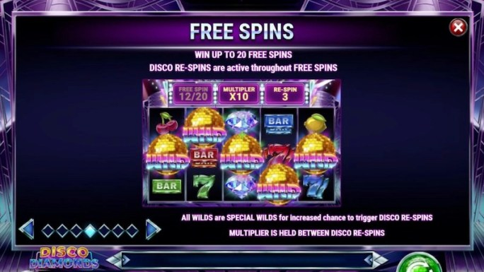 disco diamonds slot rules