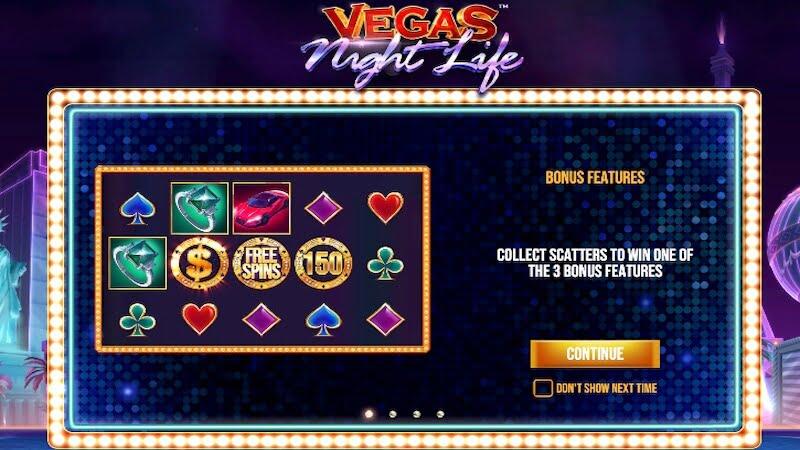 vegas night life slot rules