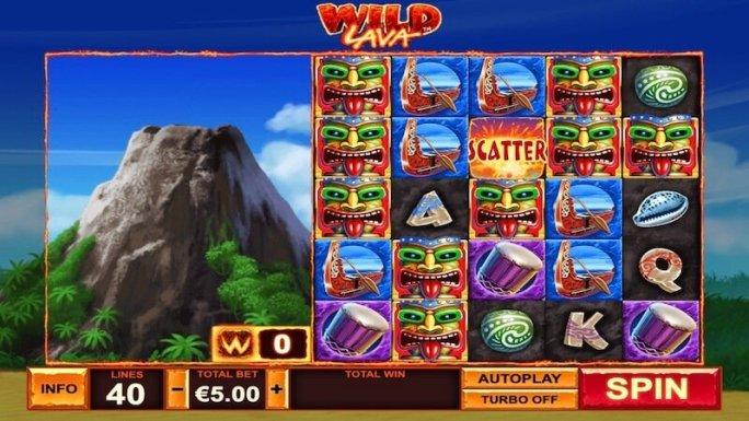 wild lava slot gameplay