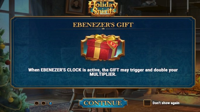 holiday spirits slot rules