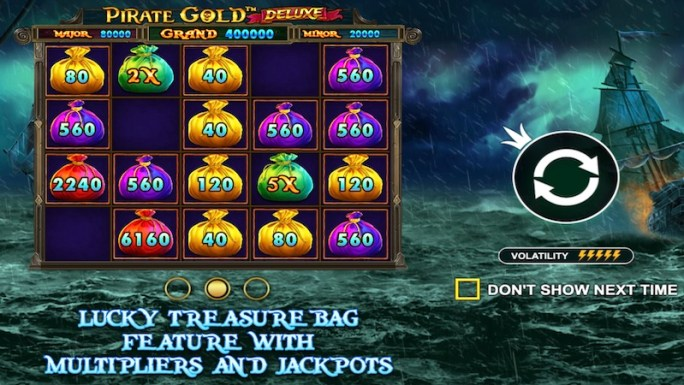 pirate gold deluxe slot rules