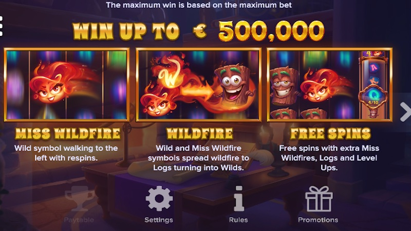 miss wildfire slot rules