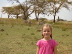 Gwennie and some zebras.