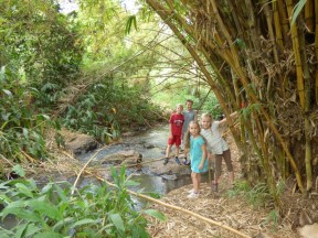 Exploring at Oloolua Nature Trail