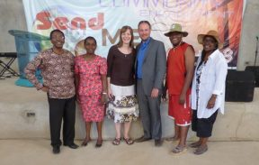 Peterson, Anne, Jody, Ryan, Mwaya, and Munyiva at Deliverance Church