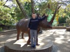 Graeme with his favorite African animal.