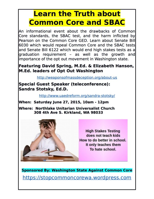 Stop Common Core in Washington State Citizens Against