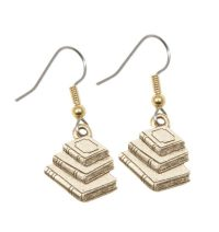 Stacked Book Earrings - Stop Falling