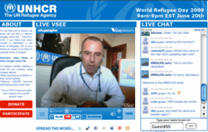 Screenshot of Refugee Day Live