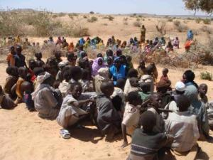 Newly Displaced Darfuris at Chad-Darfur Border