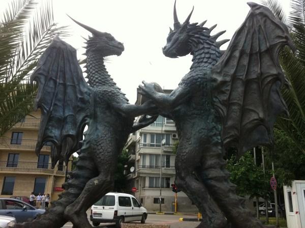Dragon Couple Varna Bulgaria . Furry