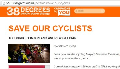 38 Degrees save our cyclists