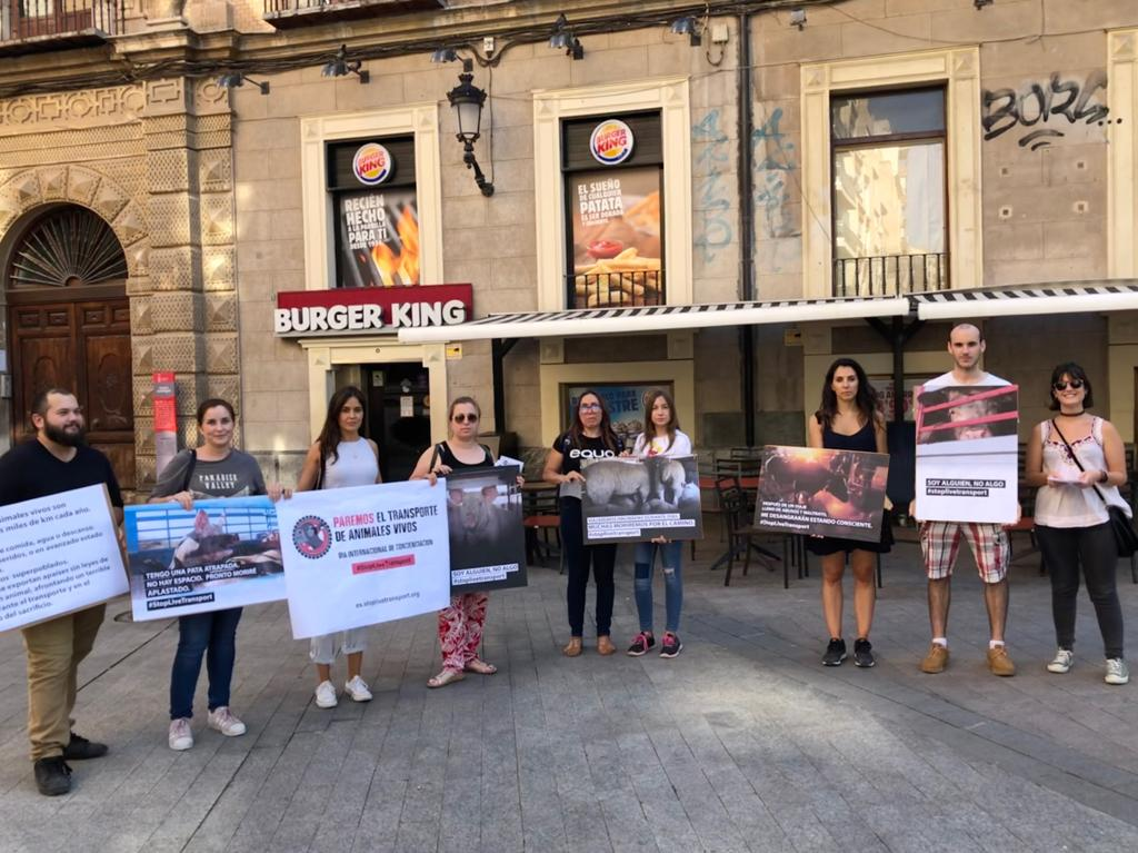 Stop Live Transport Day of Action Spain