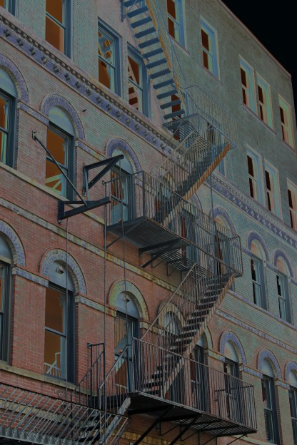Fire Escape-Downtown Portland-Solarize
