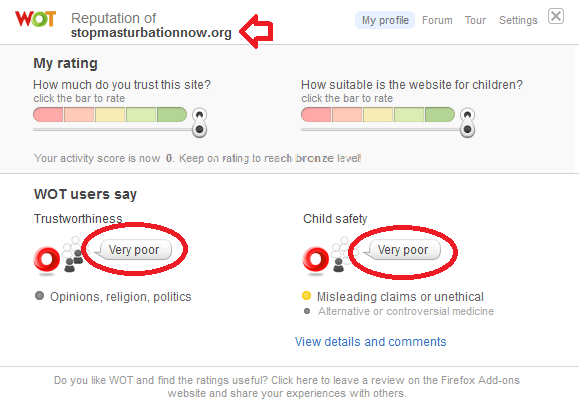 """Web of """"Trust"""" targets SMN.Org using ridiculous ratings."""