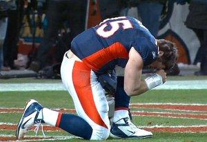 Tebow's record-setting prayer.