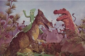 Gumby Riding Dinosaurs
