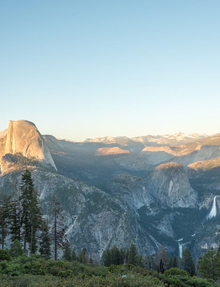 Half Dome with Nevada and Vernal Falls from Glacier Point