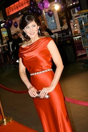 Janet McIntyre: left the party early but we still love her frock. Pic by Throng.
