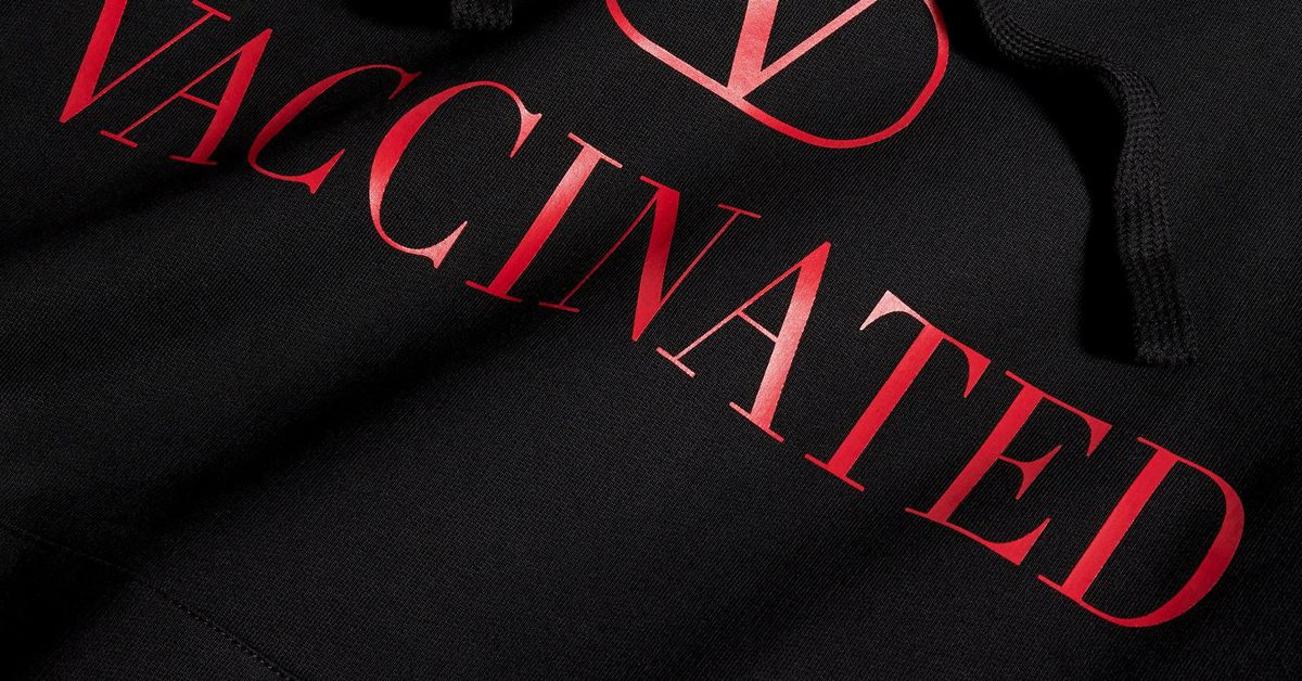 Fashion label Valentino makes $690 hoodie to support COVID-19 vaccine