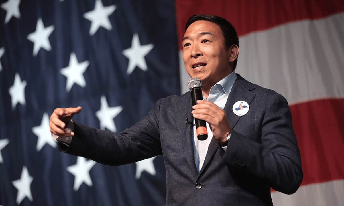 Andrew Yang Reveals His Political Party Will be Pro Crypto