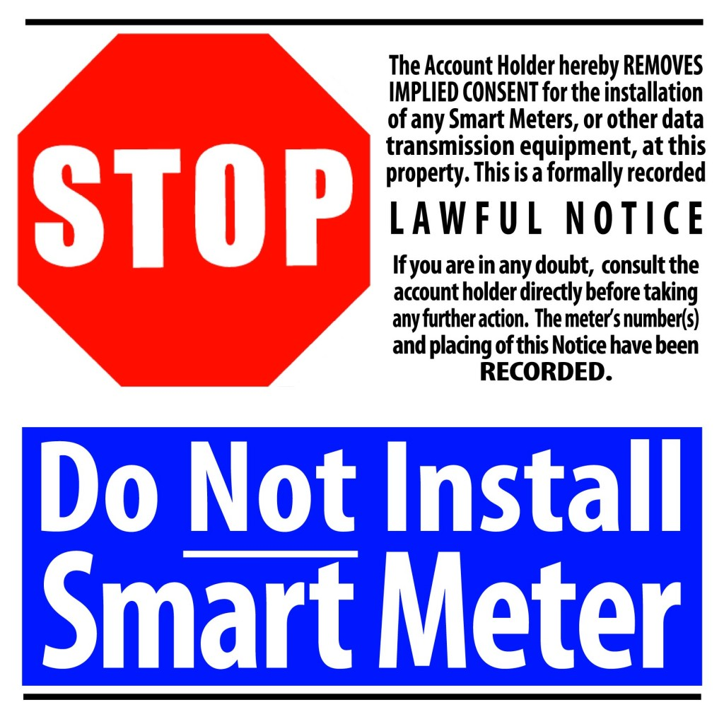 Printable Signs Stickers Stop Smart Meters Uk