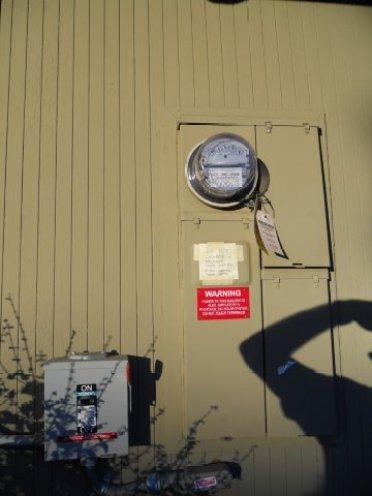 Grid Tied Analog Meter in SCumEland CA July 2012-1