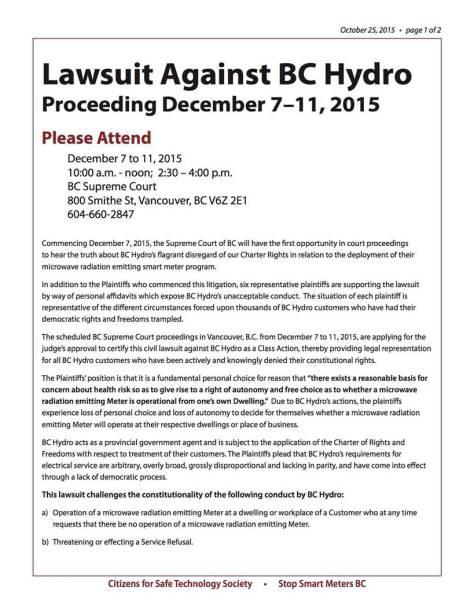 Lawsuit Against BCHydro