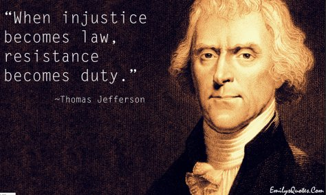 When Injustice becomes - Jefferson