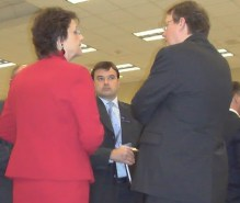 Rep. Avila with Marc Trathen, Time Warner Cable's top lobbyist (right) Photo by: Bob Sepe of Action Audits