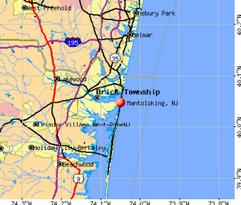 Mantoloking is located on New Jersey's barrier island.