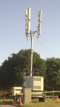 Cell tower on wheels