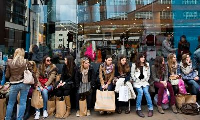 Shoppers At A Primark store
