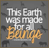 Message - Earth made for all beings