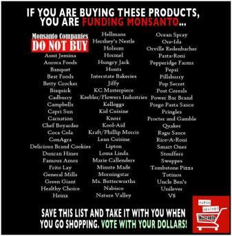 Message - GMOs Monsanto