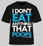 Vegan - t-shirt don't eat anything t-shirt