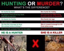 Trophy hunters - Revenge hunter or killer