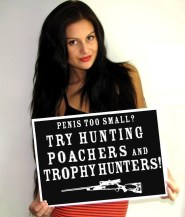 Trophy hunters - Revenge small one holding sign