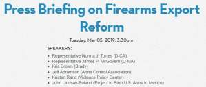 Press Briefing on Firearms Export Reform