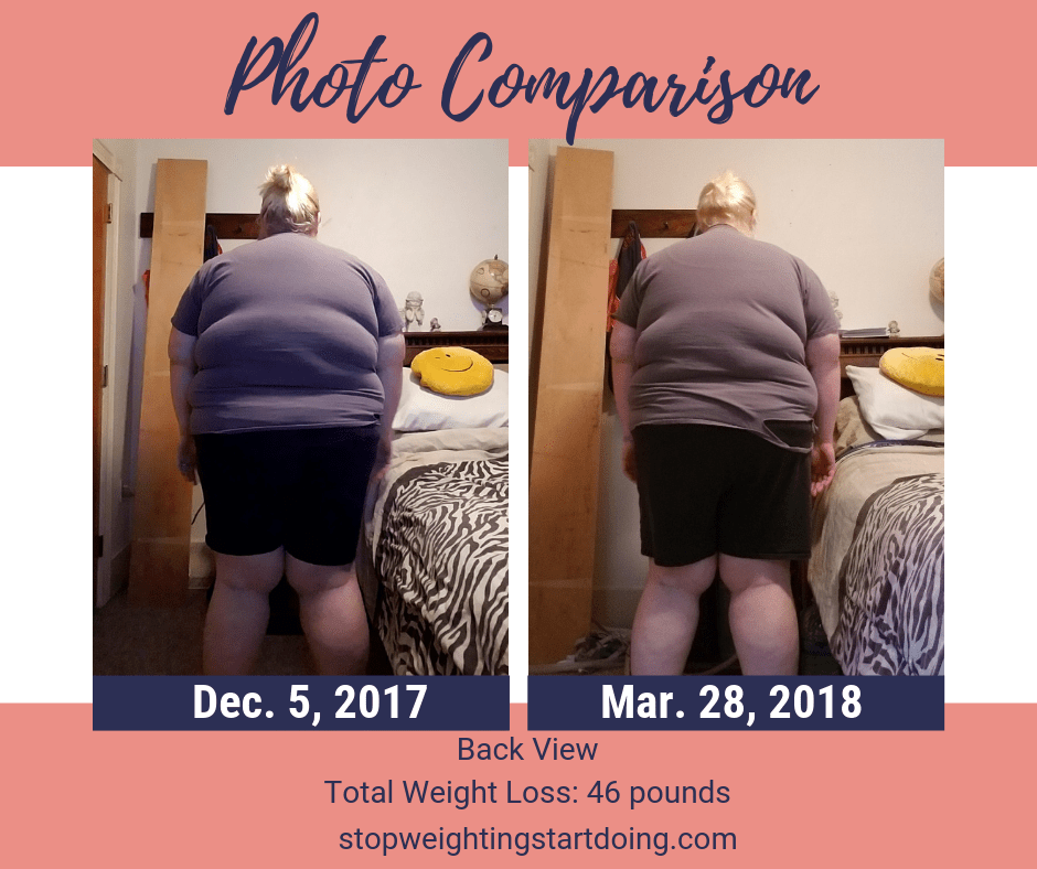 A comparison of my back from losing 46 pounds. Seven simple changes that helped me lose 46 pounds. | easy diet changes to lose weight, simple life changes to help you lose weight, simple life changes to lose weight | 15 Super Simple Life Changes to Lose Weight for Good