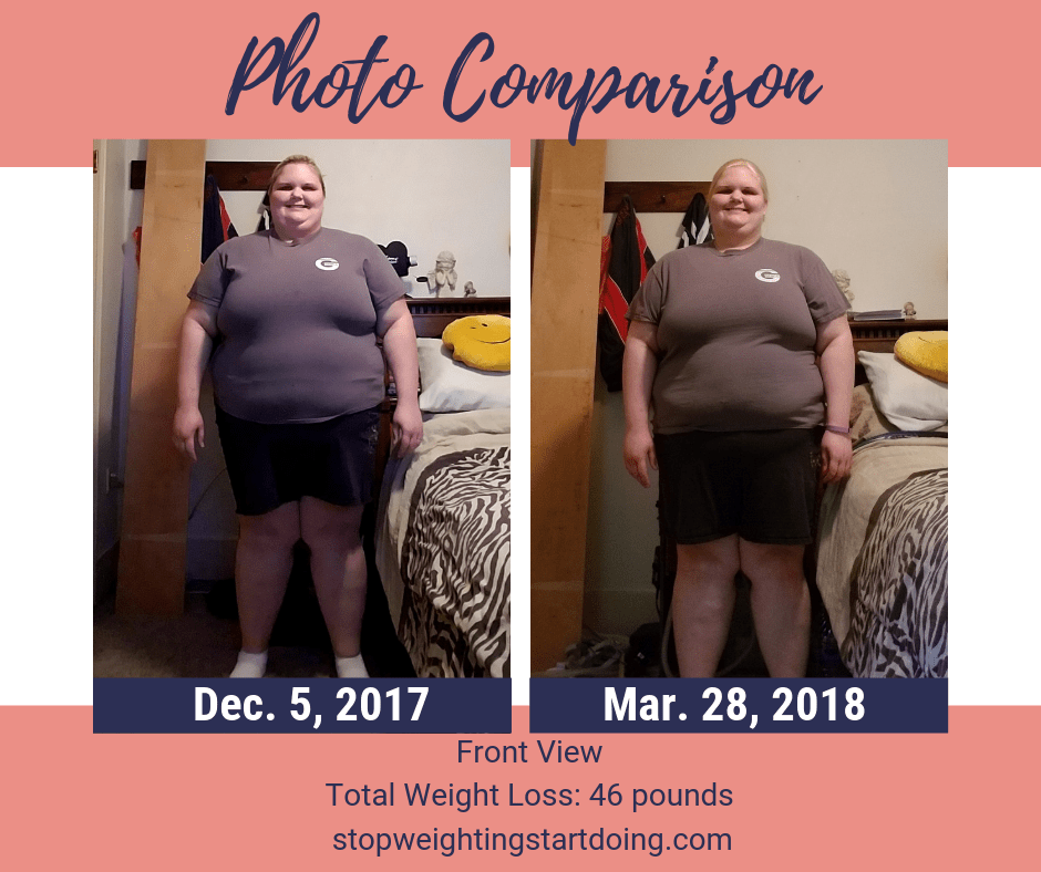 A comparison of my front from losing 46 pounds. Seven simple changes that helped me lose 46 pounds. easy diet changes to lose weight, simple life changes to help you lose weight, simple life changes to lose weight | 15 Super Simple Life Changes to Lose Weight for Good