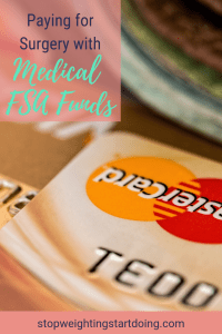 A tan mastercard laying on a table next to dollar bills. Paying for Surgery with Medical FSA Funds | How to Maximize Your FSA