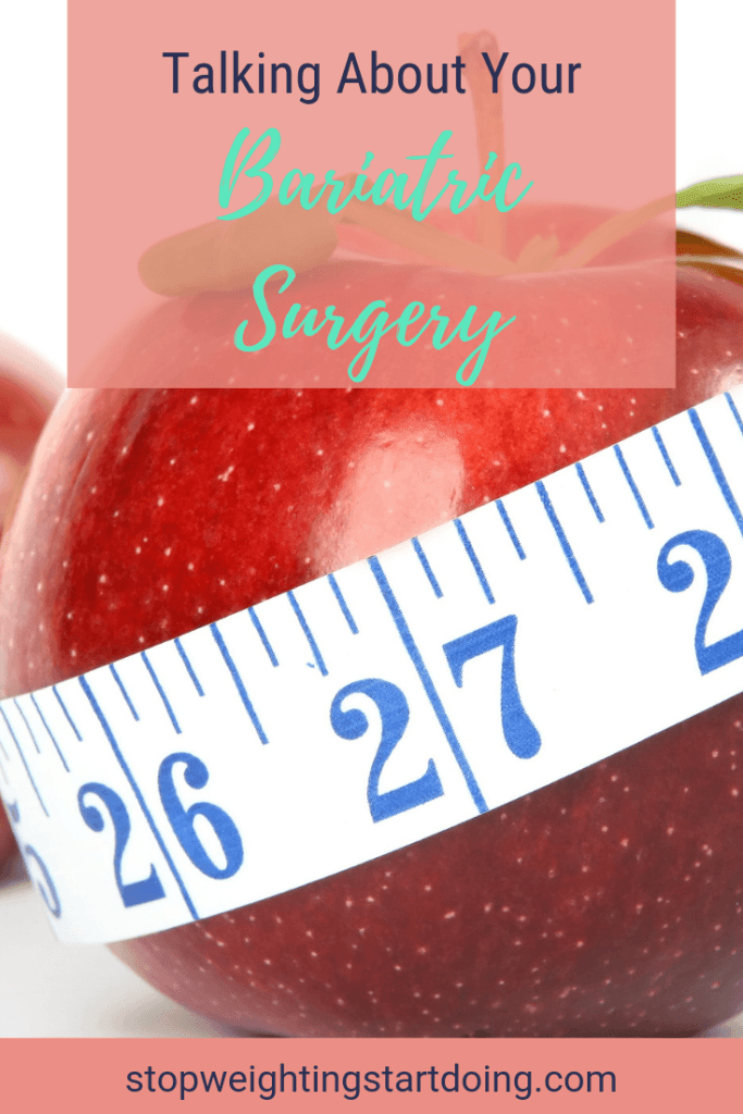 A red apple with a tape measure around it. Talking About Your Bariatric Surgery | Keypoints to Consider Discussing
