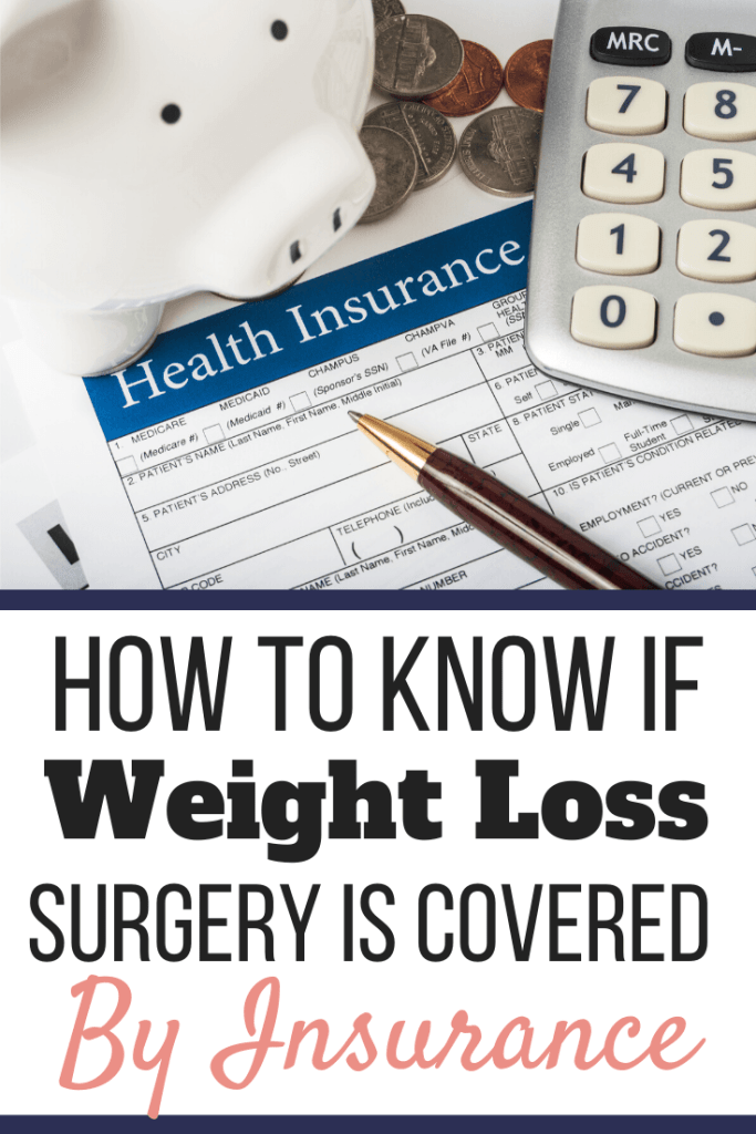 A white piggy bank with change and a calculator on top of a health insurance form. How to Know if Weight Loss Surgery is Covered by Insurance | Your Guide | 01272020